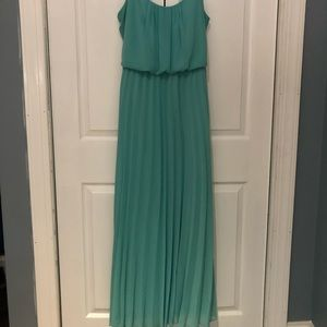 Full length teal dress